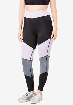 Side-Pocket Color Blocked Legging by FullBeauty SPORT®,