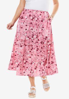 Linen Blend Maxi Skirt,