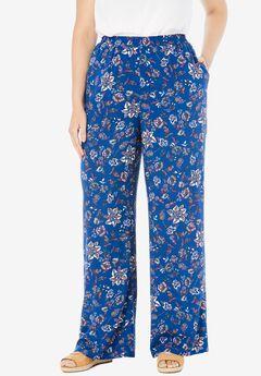 Pull-On Elastic Waist Soft Pants,