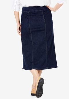 42d617cb77e Smooth Waist A-Line Denim Skirt. Woman Within