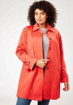 Water-resistant A-line raincoat,