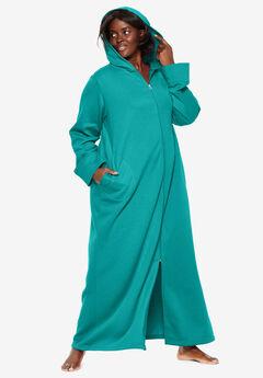 Hooded Fleece Robe by Dreams & Co.®, WATERFALL