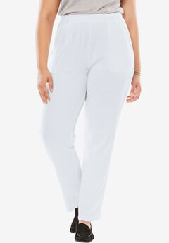 7-Day Knit Ribbed Straight Leg Pant,