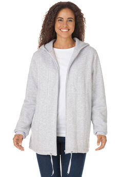 Thermal-Lined Hooded Fleece Jacket,
