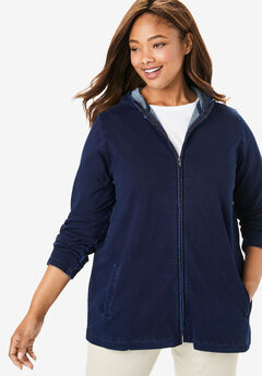 Hooded French Terry Jacket,