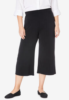 Stretch Knit Culotte,