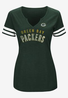 NFL® Heathered V-Neck Tee Short Sleeve Tee, PACKERS