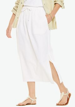 Long linen skirt,