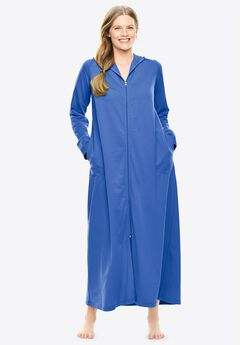 Long Zip-Front Robe by Dreams & Co.®,