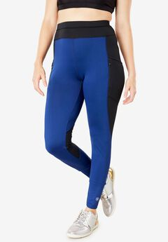 Side-Pocket Fleece-Lined Legging by FullBeauty SPORT®,