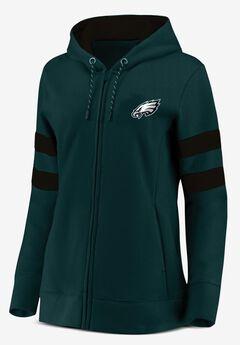 NFL® Long Sleeve Full Zip Fleece with Mesh Trim,
