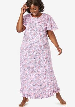 81e02e2373870 Breezy Eyelet Knit Long Nightgown by Dreams & Co.®| Plus Size ...