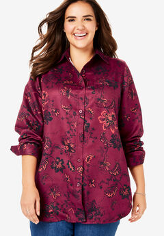 Soft Sueded Button Down Shirt,