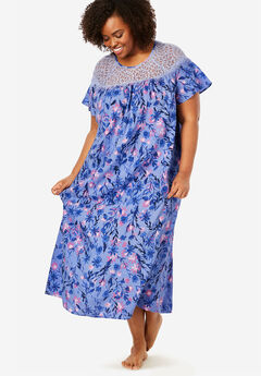 Lace Trim Sleep Gown by Amoureuse®,