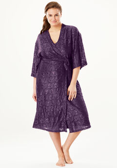 Touch of Lace Sheer Kimono Robe by Dreams & Co.®,