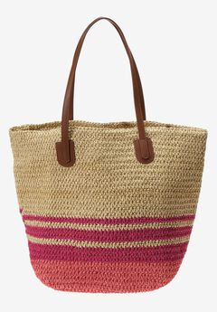 Straw beach bag,