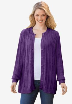 Cable Knit Cardigan,