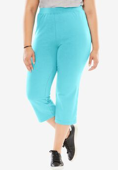Stretch Cotton Yoga Capri,