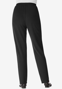 Wrinkle and Stain-Resistant Knit Pant by Only Necessities®,