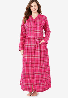 Flannel Plaid Lounger by Only Necessities®, RASPBERRY SORBET PLAID