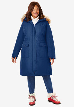 The Arctic Parka™ in Knee Length, EVENING BLUE