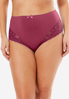 Lace Full-Cut Brief by Amoureuse®, WINE