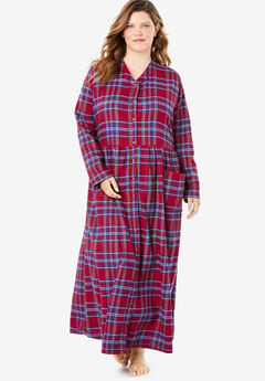 Flannel Plaid Lounger by Only Necessities®, CLASSIC RED MULTI PLAID
