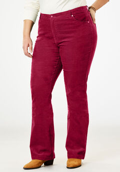 Stretch Corduroy Bootcut Jean, RICH BURGUNDY