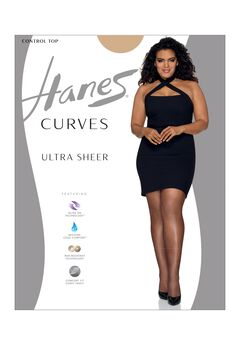 Hanes Curves Ultra Sheer Control Top Legwear,