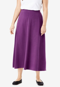 EveryWear Essential A-Line Maxi Skirt, PLUM PURPLE