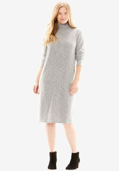 Mock neck dress,