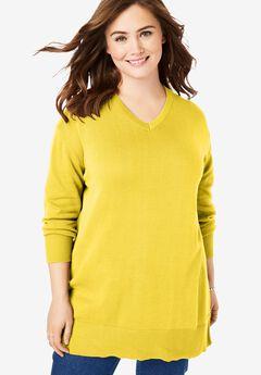 Perfect Cotton V-Neck Sweater,