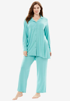 Downtime Sleepwear Solid PJ Set by Dreams & Co.®,