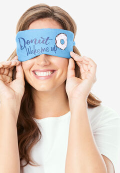 Cotton Sleep Mask by Dreams & Co.®, BABY BLUE DONUTS