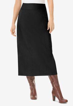Pull-On Denim Skirt,