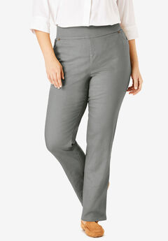 Straight Leg Smooth Waist Jean, OLIVE GREY
