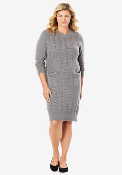 Chevron Stitch Sweaterdress,