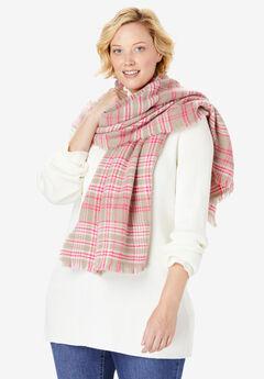 Plaid Blanket Scarf,