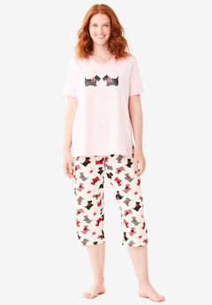 2-Piece Capri PJ Set ,