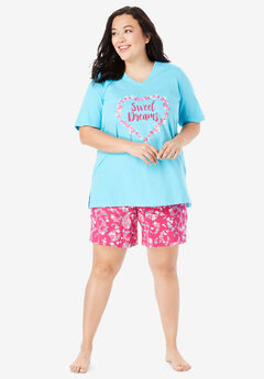 V-Neck Shorty PJ Set by Dreams   Co.® f88a93907