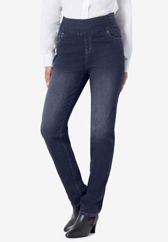 Straight Leg Smooth Waist Jean, INDIGO
