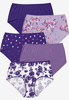5-Pack Pure Cotton Full-Cut Brief by Comfort Choice®, DITSY PACK