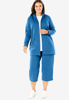 2-Piece Fleece Capri Set,
