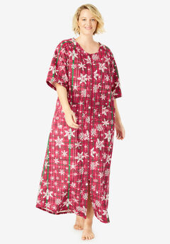 057d18098211 Long French Terry Zip-Front Robe by Dreams   Co.®