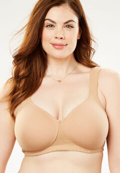 Cotton Wireless T-Shirt Bra by Comfort Choice®, NUDE