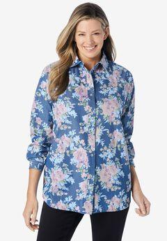 classic long-sleeve denim shirt,