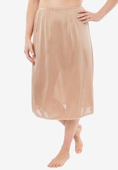 """2-Pack 28"""" Half Slip by Comfort Choice®, NUDE"""