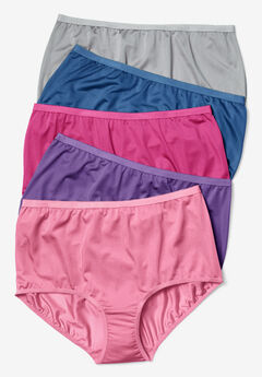 10-Pack Nylon Full-Cut Brief by Comfort Choice®, MIDTONE PACK