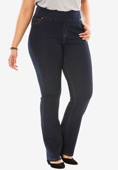 75ece15b514 Bootcut Smooth Waist Jean. Woman Within