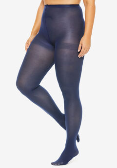 2-Pack Opaque Tights by Comfort Choice®, NAVY